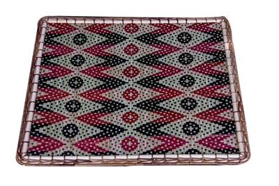 Rectangle Bamboo Placemat with Kelarai Motif 0610613002014