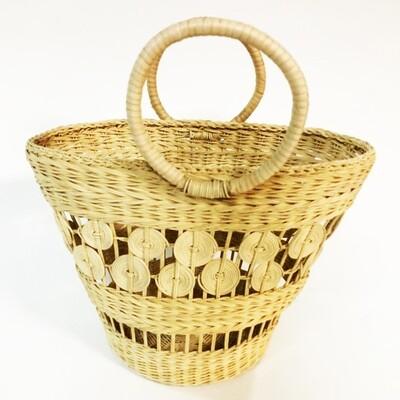 Rattan Market Basket 00056