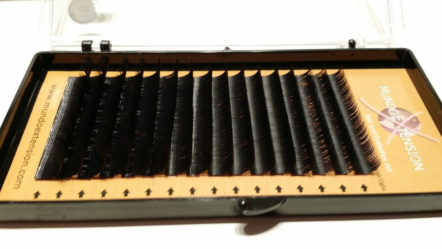 """NEW REAL MINK LASHES MISTO 16 LINEE CURL """"D""""0.15/ 0.20/0.25 00045"""