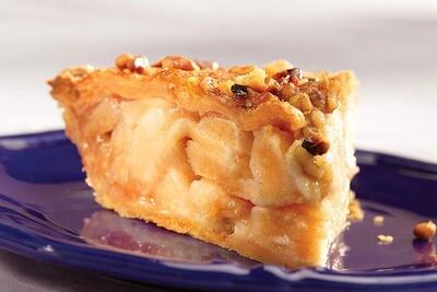 Apple Caramel Walnut Pie
