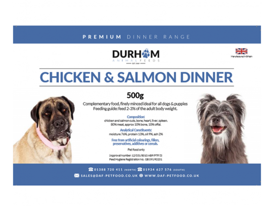 Durham - Chicken & Salmon Dinner - 500g