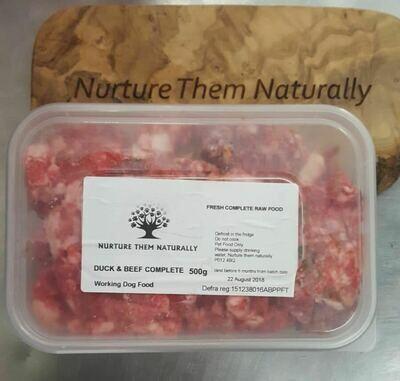 Nurture them naturally - Duck & Beef complete - 500g