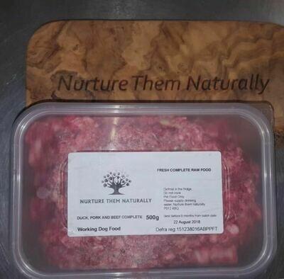 Nurture them naturally - Duck, Pork & Beef complete - 500g
