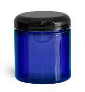 Cobalt Blue Jar, w/ Lid