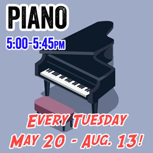 Piano - Tuesdays 5:00pm - 5:45pm