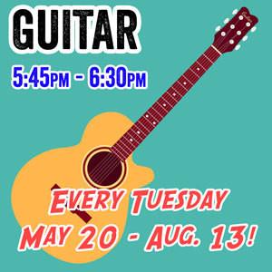 Guitar - Tuesdays 5:45pm - 6:30pm