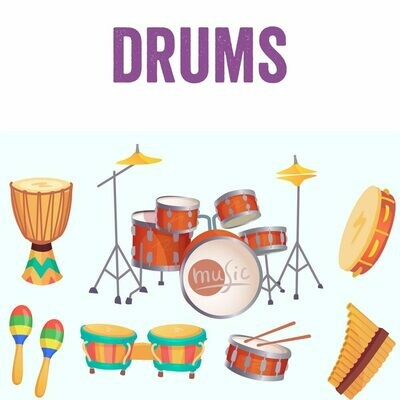 Beginning Drums - Mondays 4:30pm-5:15pm