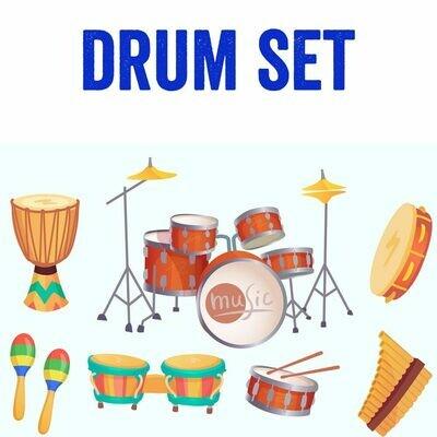 Drum Set - Mondays 5:15pm - 6:00pm