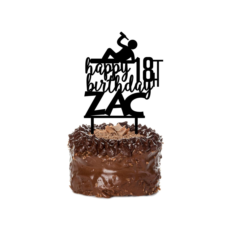 Superb Birthday Cake Topper Design 18 Personalised Birthday Cards Xaembasilily Jamesorg