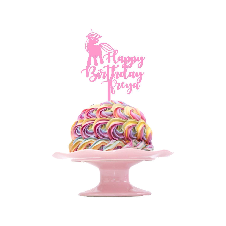 Pleasant Childrens Birthday Cake Topper Design 1 Unicorn Personalised Birthday Cards Petedlily Jamesorg