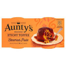Aunty's Puds Sticky Toffee 2pk