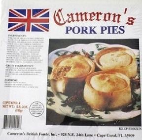 Cameron's Pork Pies 4 Pk 760170102408