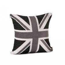Black And White Union Jack Collection Cushion