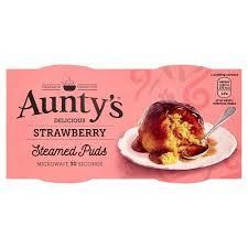 Aunty's Puds Strawberry 2pk