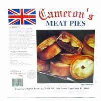 Cameron's Meat Pies 4pk 760170101401