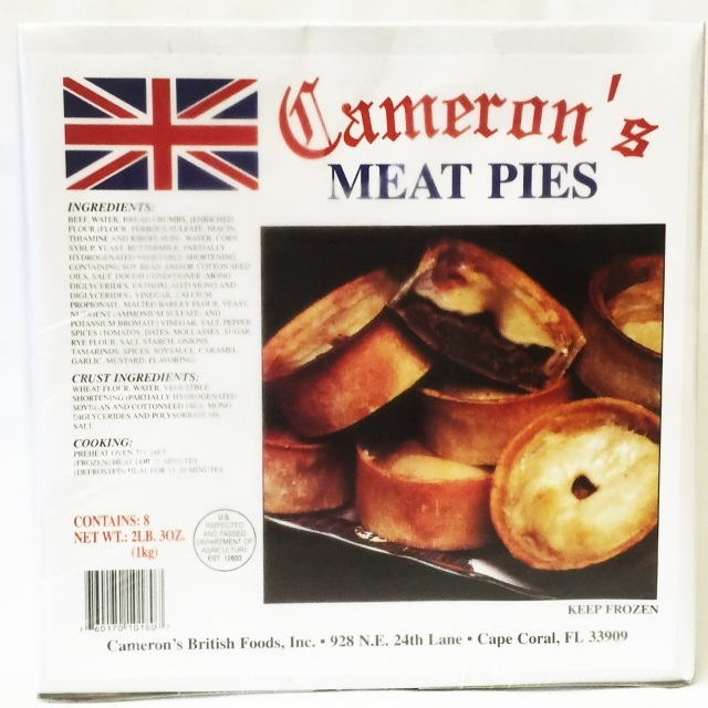 Cameron's Meat Pies 8pk 760170101807