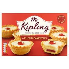 Mr Kipling Cherry Bakewells 6pk 5000221001386