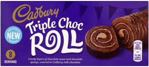 Cadbury Triple Chocolate Roll 272g