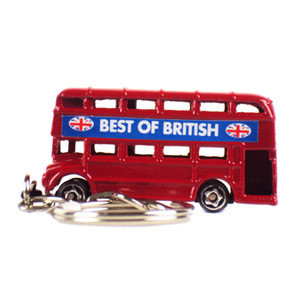 Double Decker Bus Keyring