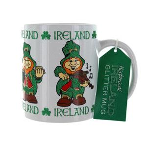 Ireland Leprechaun Glitter Mug 5031275696082