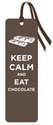 Bookmark (Keep Calm And Eat Chocolate) 693090319444