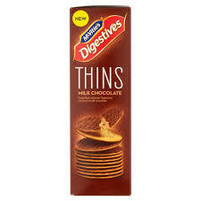 McVities Digestive Thins Milk Choc 180g