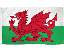 Welsh Flag 5' X 3' 5031275065277