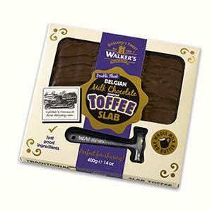 Walker's Toffee Slab Belgian Choc 400g 5010169150077