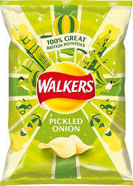 Walkers Pickled Onion Crisps 32.5g