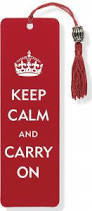 Red (Keep Calm And Carry On) Bookmark