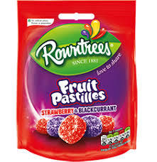 Rowntrees Fruit Pastilles Strawberry  Blackcurrant 7613035415232