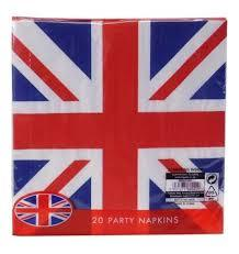 Union Jack Party Napkins 20pk 5031275660229