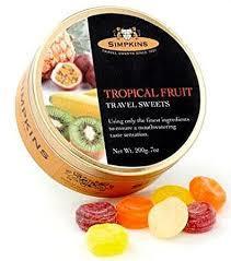 Simpkins Tropical Fruit 200g 5011563624065