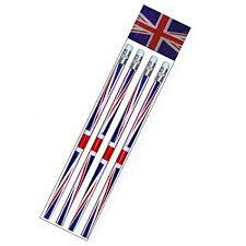 Union Jack Pencils X 4 5026619094433