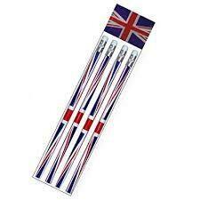 Union Jack Pencils X 4