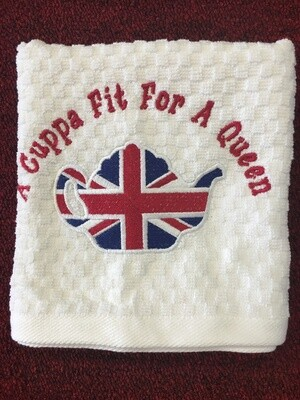 Tea Towel A Cuppa Fit For a Queen