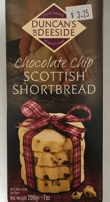 Duncan's of Deeside Choc Chip Scottish Shortbread 200g