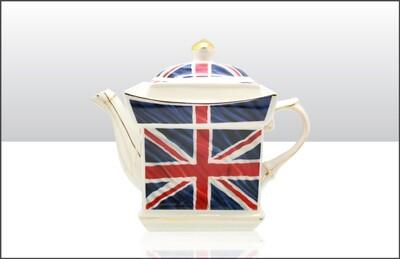Union Jack Ceramic Teapot