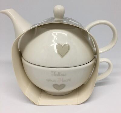 Teapot For One Sentiment Heart