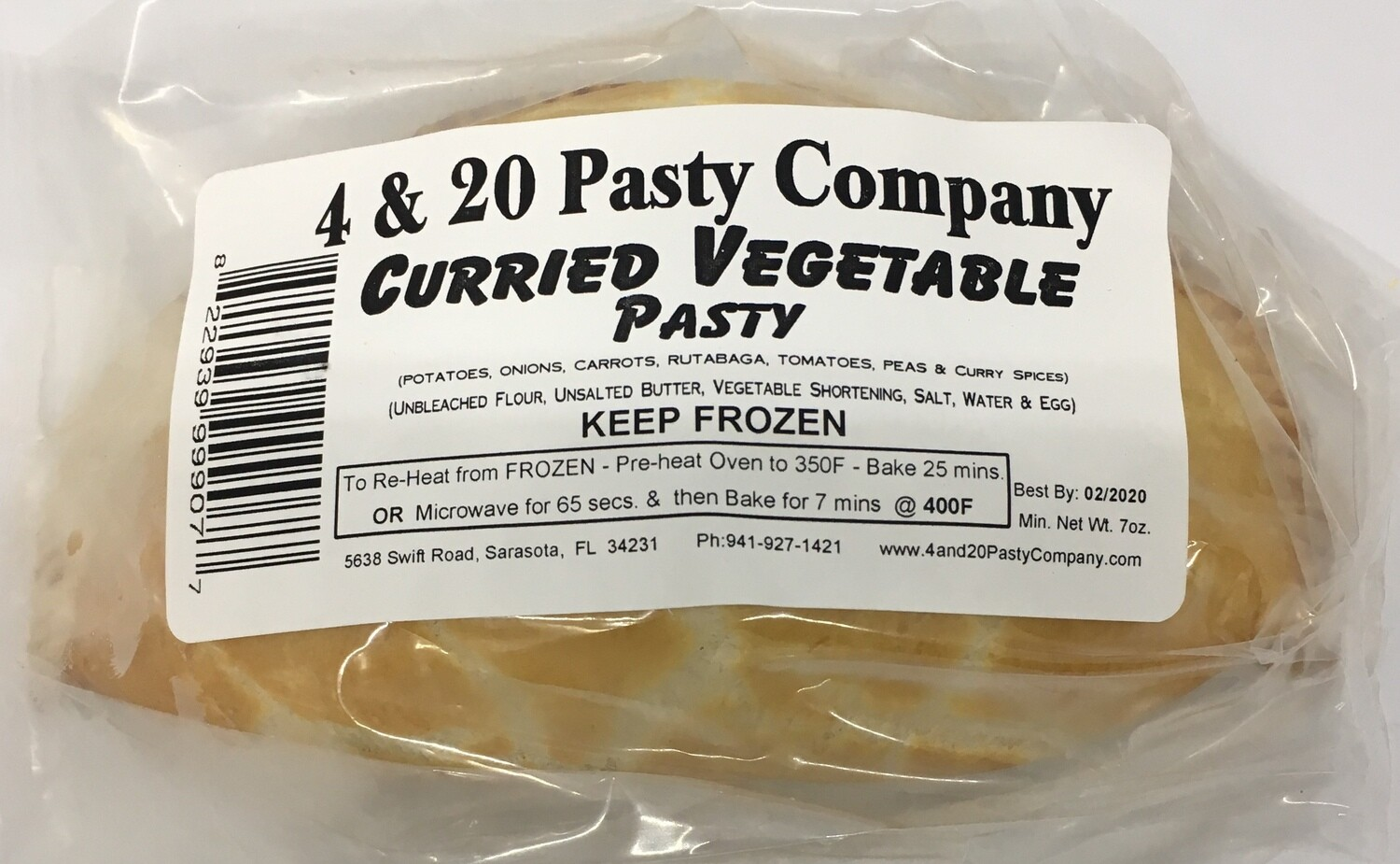 4 & 20 Curried Veg Pasty 7oz