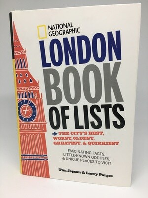 National Geographic London Book Of Lists - Signed by Author