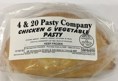 4 & 20  Chicken & Veg Pasty 7oz