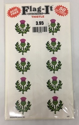 Flag It Stickers Thistle