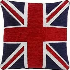 Union Jack Chenille Cushion