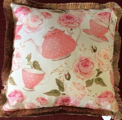 Cushion Pink Teatime 18