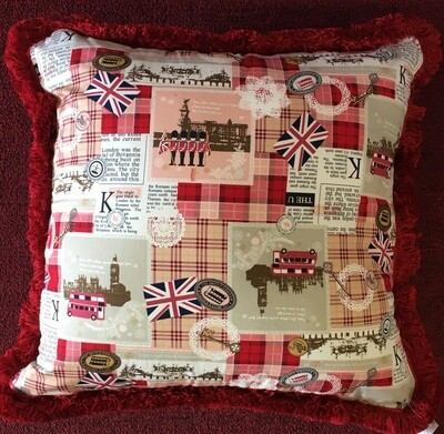 London Newspaper Cushion 18 x 18