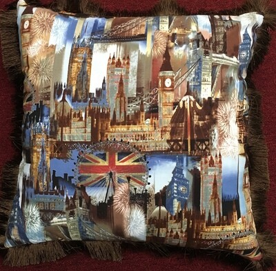 London Scene Cushion 18