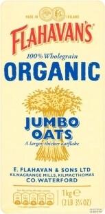 Flahavan's Organic Wholegrain Jumbo Oats 1kg