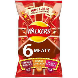 Walkers Meaty 6pk