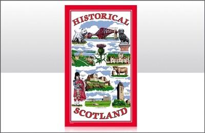 Historical Scotland Tea Towel